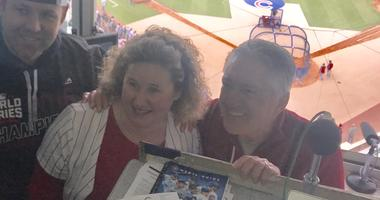 Colleen Hart-Kozubowski has lived some great Cubs moments through Pat Hughes.