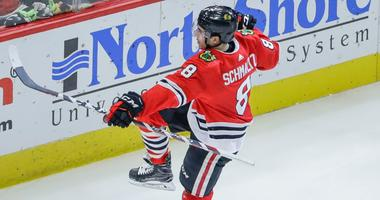 Blackhawks forward Nick Schmaltz