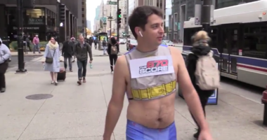 670 executive producer Nick Shepkowski takes a walk of shame down Michigan Avenue.