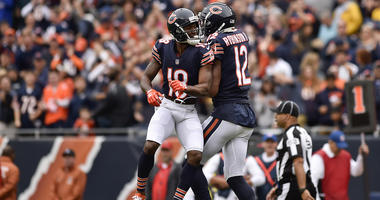 Bears receivers Taylor Gabriel (L) and Allen Robinson (R)
