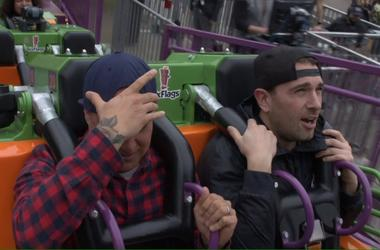 Stylz Rides The Mardi Gras Hangover Coaster at Six Flags Great America!