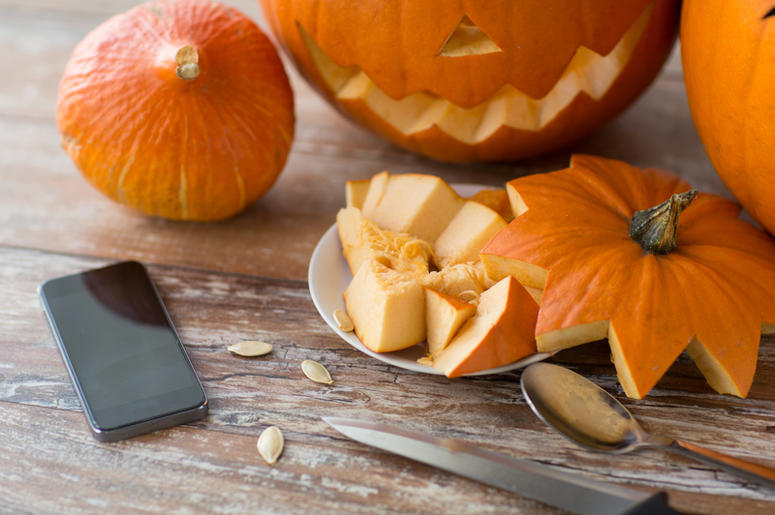 iPhone and Pumpkin