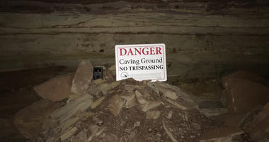 One of the DNR signs stolen from a mine on private property in the UP.