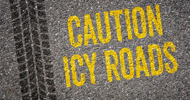 Caution icy roads