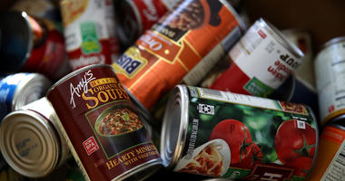 canned goods food donation