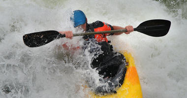 Kayak on White Water