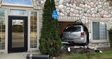 Jeep into doctor office