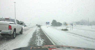 snow on Lodge Freeway