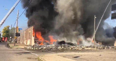 record store fire Detroit
