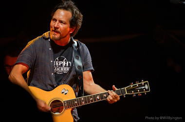 Eddie Vedder of Pearl Jam live at Wrigley Field