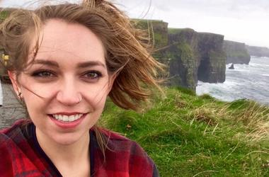 Emma Mac at the Cliffs of Moher, Ireland, October 2015