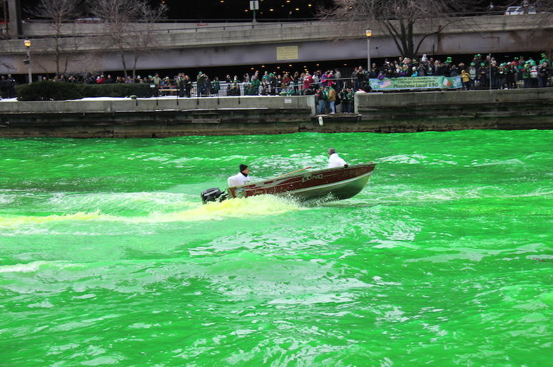 Chicago River Dye St. Patrick's Day