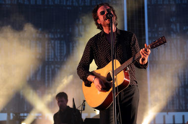 Apr 21, 2017; Indio, CA, USA; Father John Misty performs during the Coachella Valley Music and Arts Festival at Empire Polo Club. Mandatory Credit: Zoe Meyers/The Desert Sun via USA TODAY NETWORK