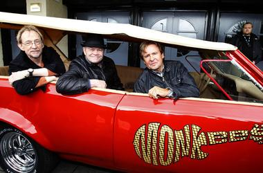 2/21/2019 - File photo dated 14/05/11 of (left to right) Peter Tork, Micky Dolenz and Davy Jones of the Monkees at a photocall for at the O2 Apollo in Manchester for their UK Tour. Mr Tork has died aged 77. (Photo by PA Images/Sipa USA)