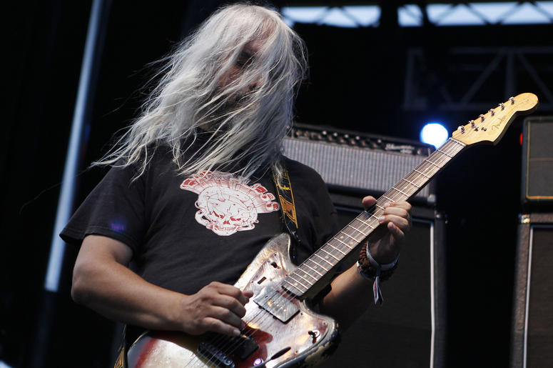 Guitarist J Mascis of Dinosaur Jr. performs during LouFest in St. Louis, Missouri on Saturday, August 25, 2012. (Photo by Zia Nizami/Belleville News-Democrat/MCT/Sipa USA)