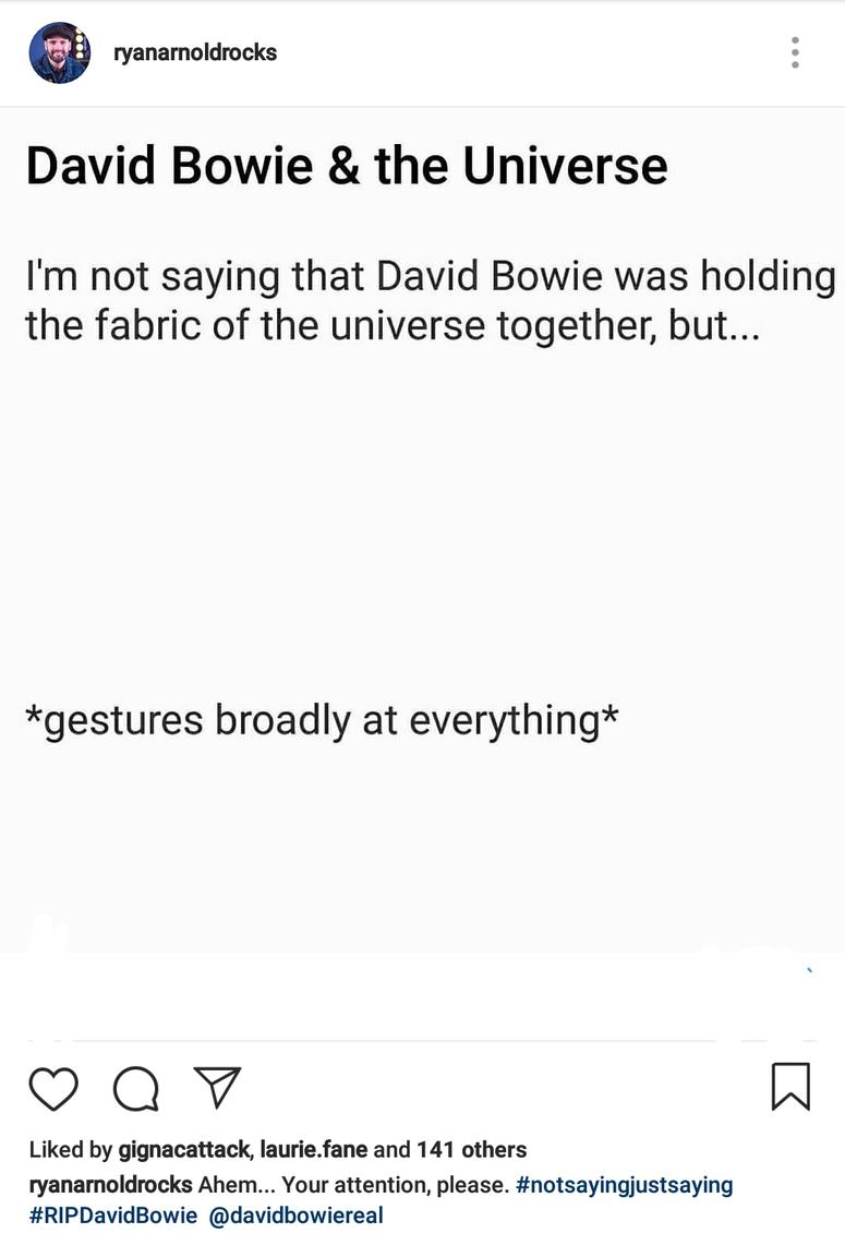 David Bowie & the Universe