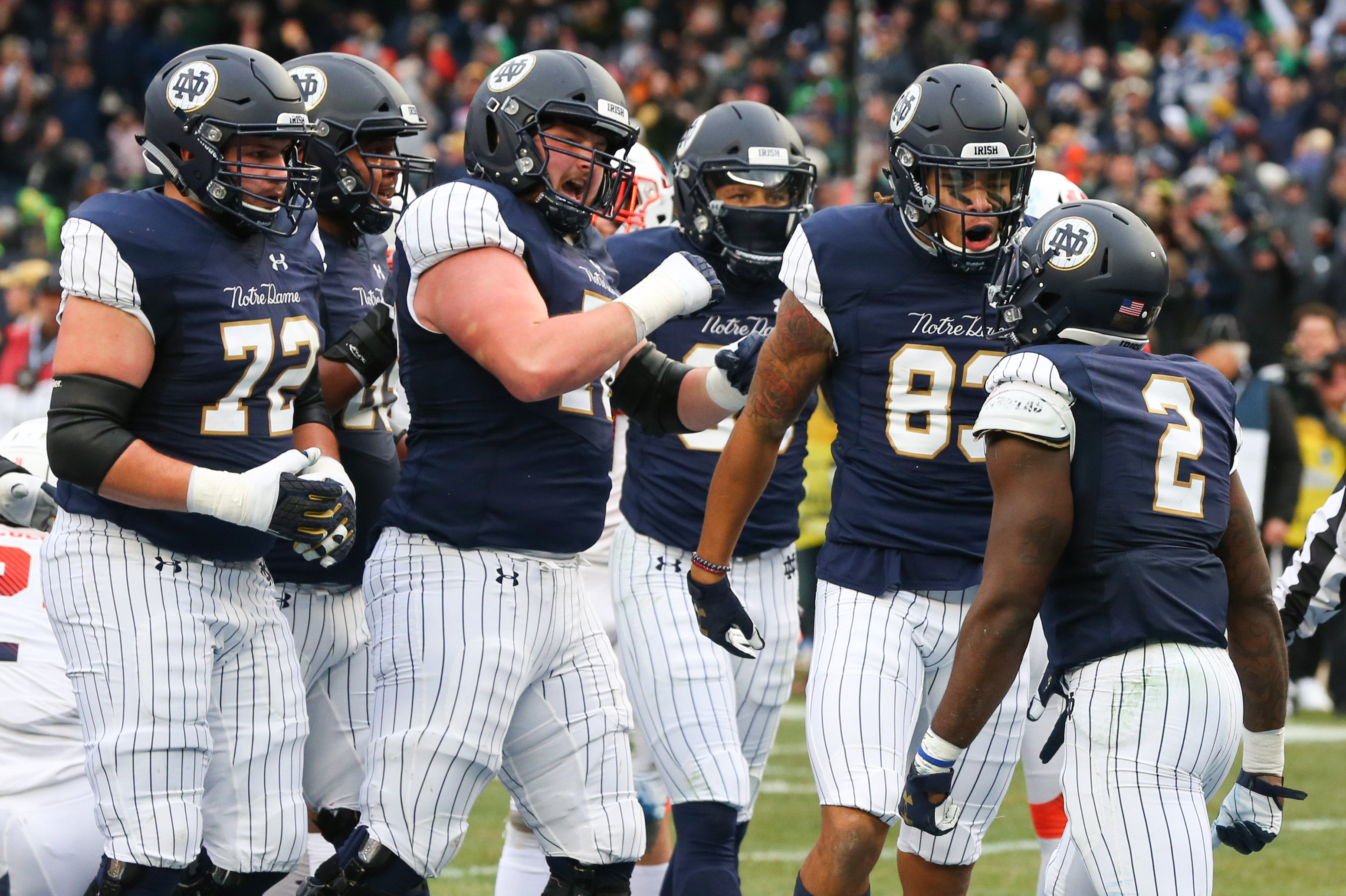 Image result for notre dame pinstripe football uniforms pics