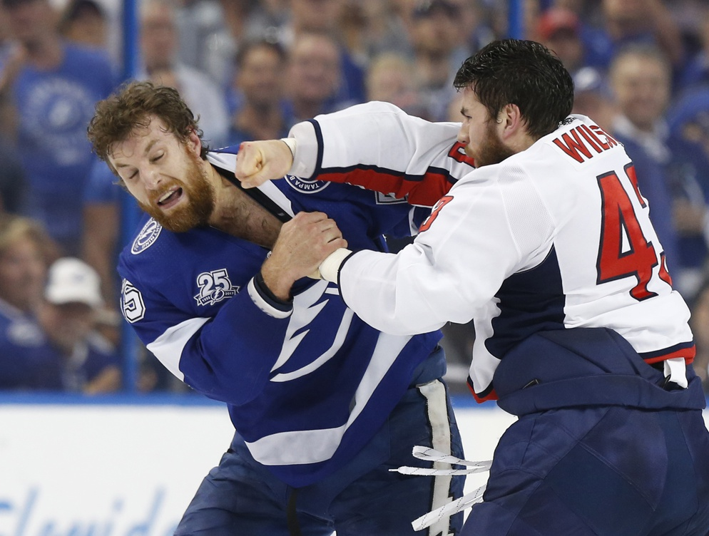 Tom Wilson And Braydon Coburn Fight Immediately After Getting Out Of  Penalty Box  VIDEO   08cb586bd88c