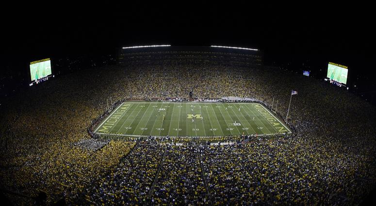 Michigan Unveils New Field With Blue End Zones [PHOTOS]