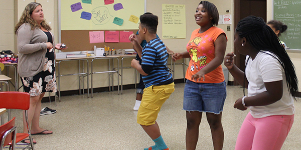 Baltimore Improv Group workshop at YA summer learning site