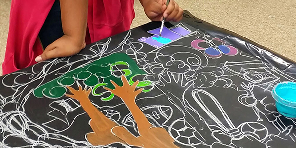 Danyett mural at John Hanson Montessori2