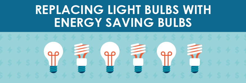 Replacing Light Bulbs with Energy Saving Bulbs