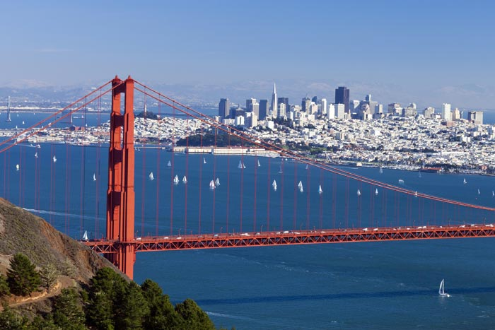 San Francisco, CA | Ranks highest of top 10 for both wind and rain