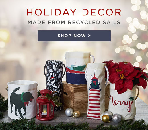 Holiday Decor Made from Recycled Sails - Shop Now