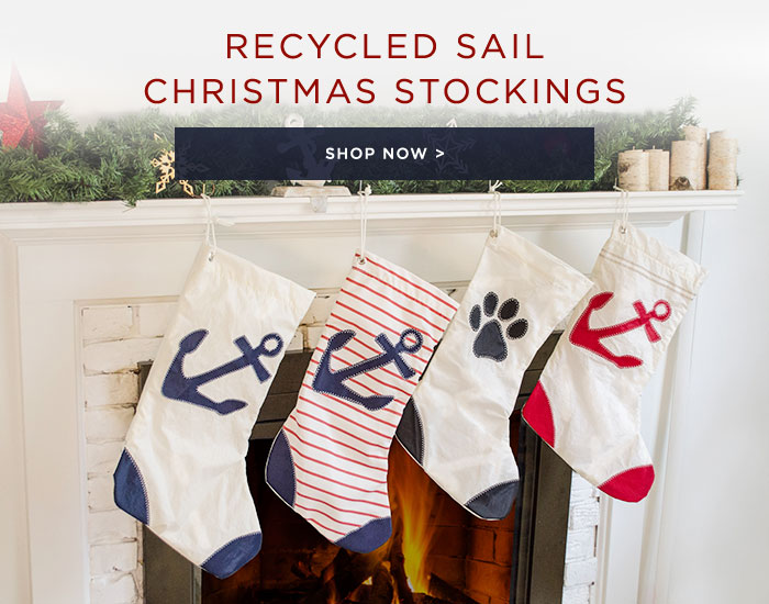 Shop Recycled Sail Christmas Stockings
