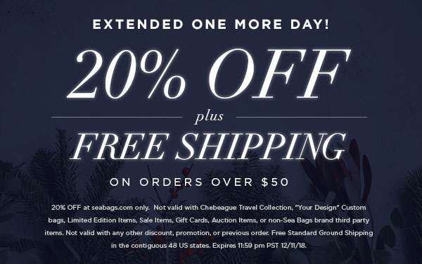 20% Off plus Free Shipping Now