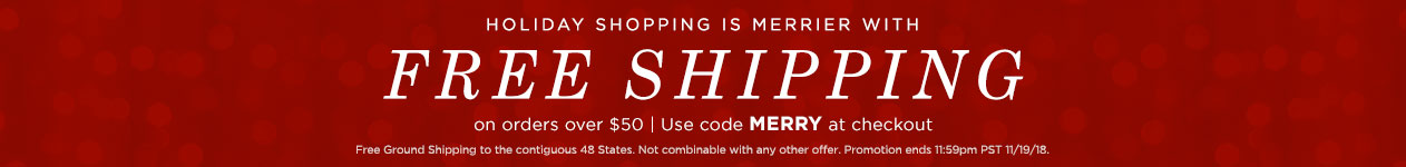 Free Shipping over $50 use code MERRY at checkout