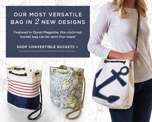 Convertible Bucket bags now in 2 new designs!