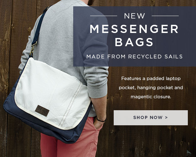 New Messenger Bags Made From Recycled Sails