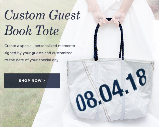 Custom Guest Book Tote
