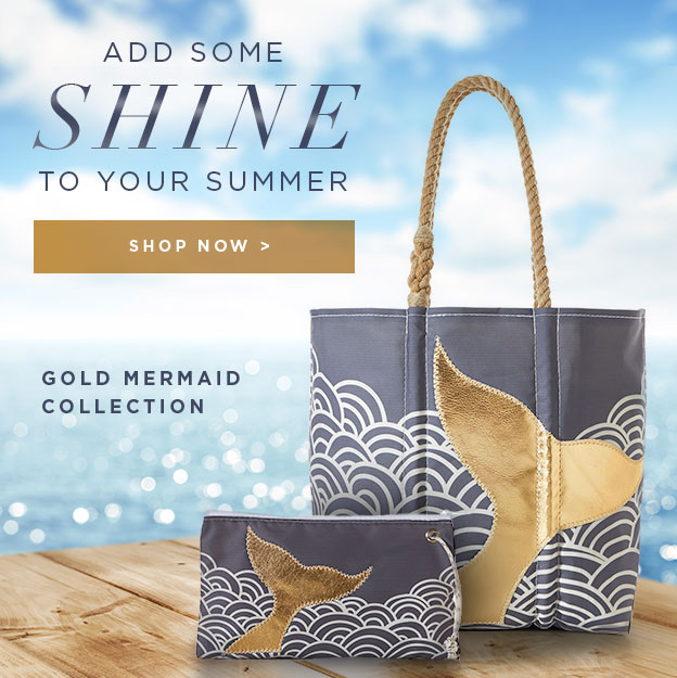 Add Shine to your Summer - New Gold Metallic Bags