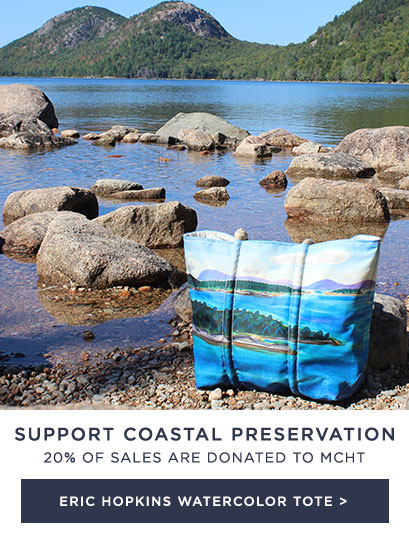 Eric Hopkins Watercolor Tote - 20% Donated to Maine Coast Heritage Trust