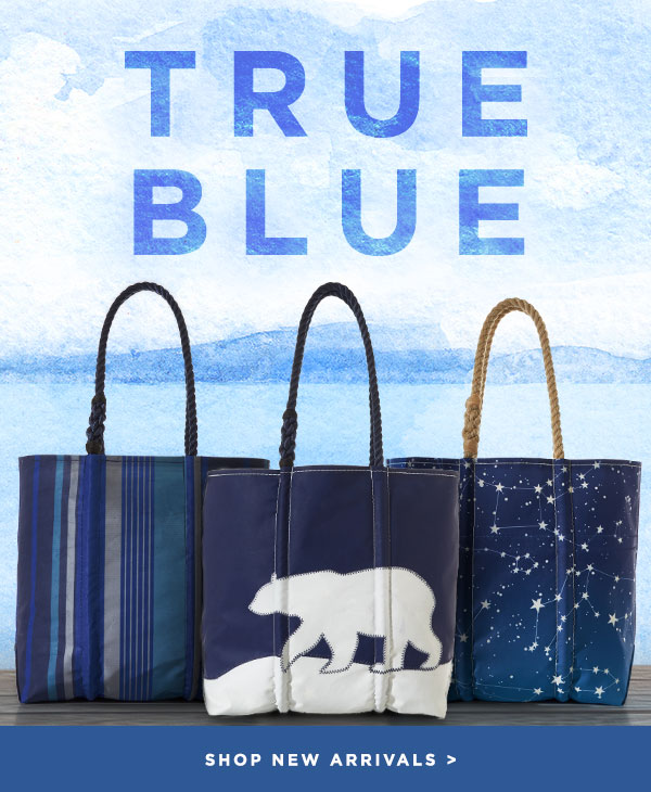 True Blue - New Arrivals at Sea Bags. Shop Now!
