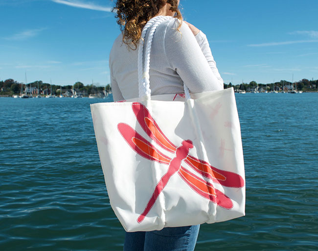 Nautical for a Cure Tote