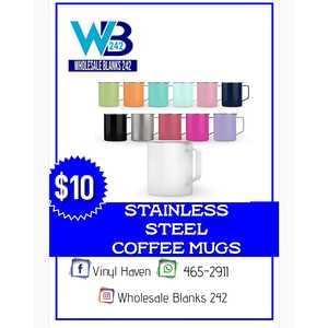 Stainless Steel Coffee Mugs - $10