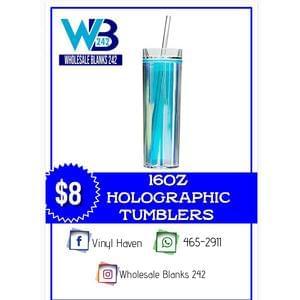 16oz Halographic Tumblers - $8