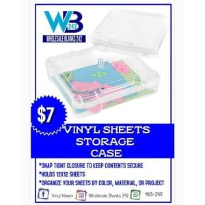 12x12 Vinyl Sheet Storage Case - $7