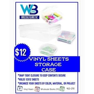 12x12 Vinyl Sheet Storage Case - $12