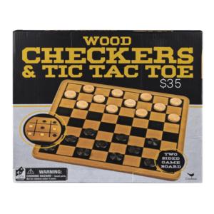 Wood checkers/ Tic tac toe