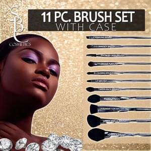 11PC Brush Set with Case