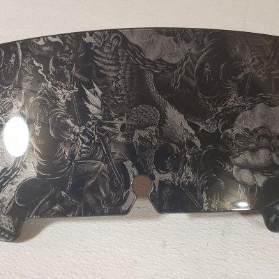 "4.5"", 1996-2013, Skull Riders, Dark Charcoal Silver, GLOSS"