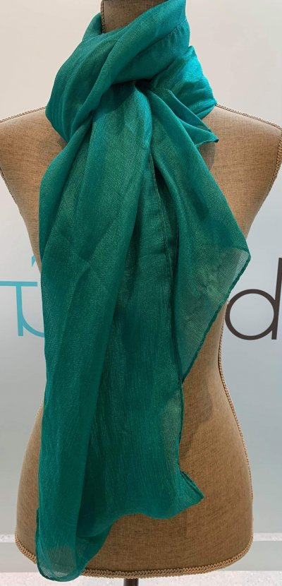 Silky Solid Teal Scarf