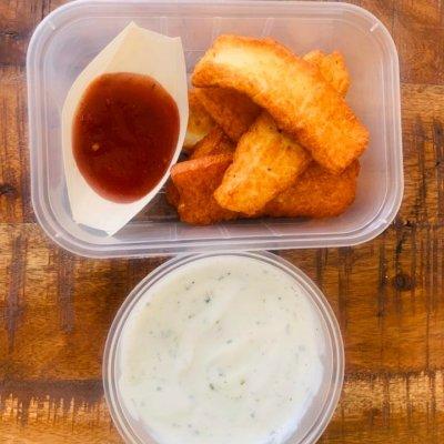 Gluten free halloumi fries