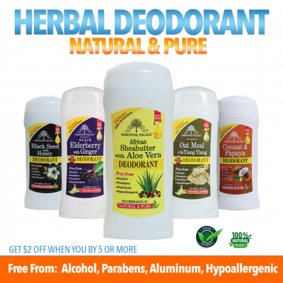 Herbal Deodorant Variety Pack of 5 - Save $10