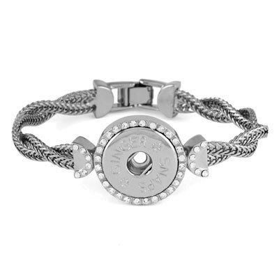 Ginger Snaps Braided Wrist 1-Snap Bracelet