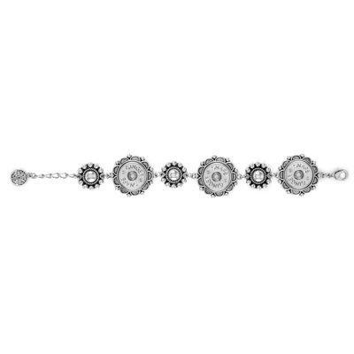 Ginger Snaps Six Flower 3-Snap Bracelet